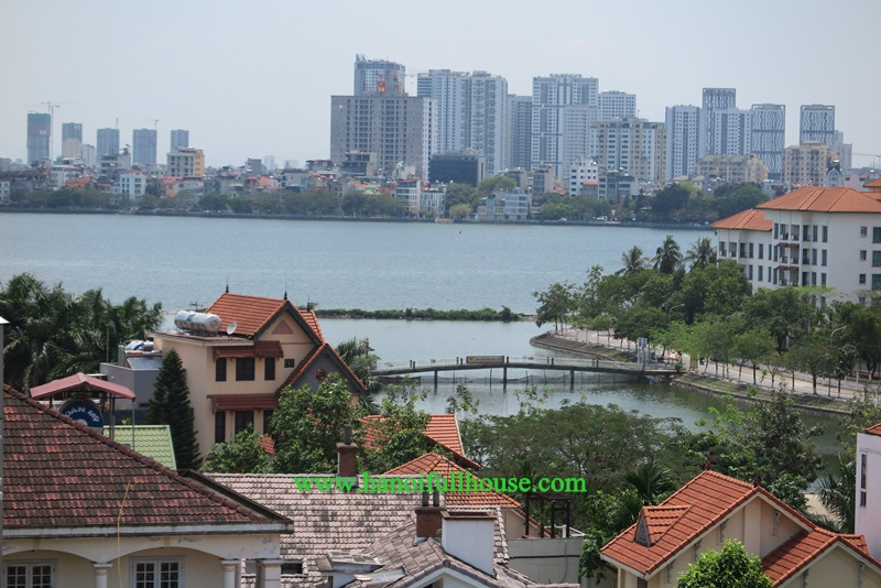 Nice apartment with big balcony, view Westlake, professional service  in Tay Ho for rent
