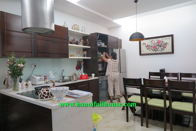 A 3-storey house is well-designed, modern and fully furnished, 03 bedrooms for rent in Dong Da
