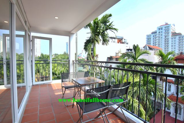 A really beautiful apartment in Dang Thai Mai, large balcony, modern style.