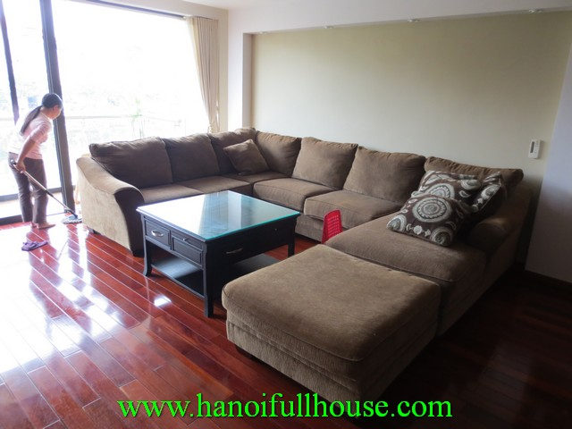 West Lake view apartment with 3 bedrooms, 3 bathrooms for rent in Tay Ho dist, Ha Noi, Viet Nam