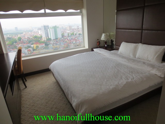 Furnished apartment with 2 bedrooms rentals in Ha Noi Hoa Binh Green building, Ba Dinh dist, Ha Noi