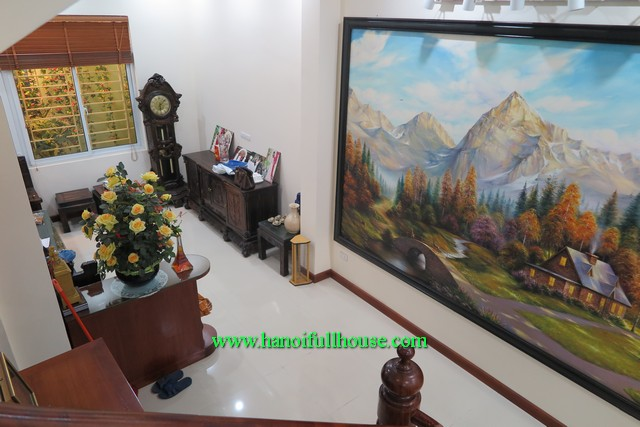 Modern house in Ba Dinh rental, five bedroom, newly furnished and silent location