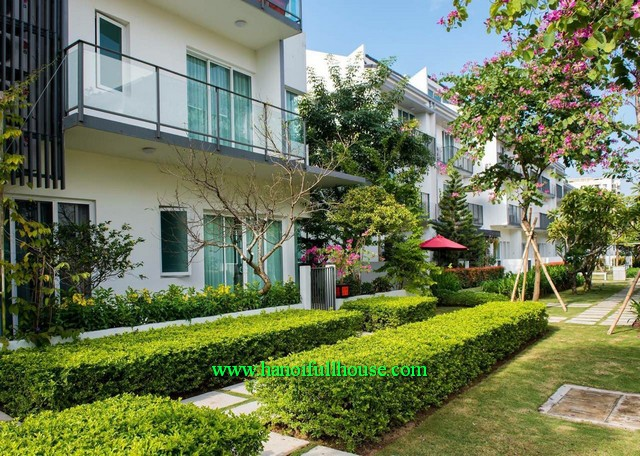 850$/month to rent an unfurnished villa at Park City-Ha Dong. Your second home in Hanoi