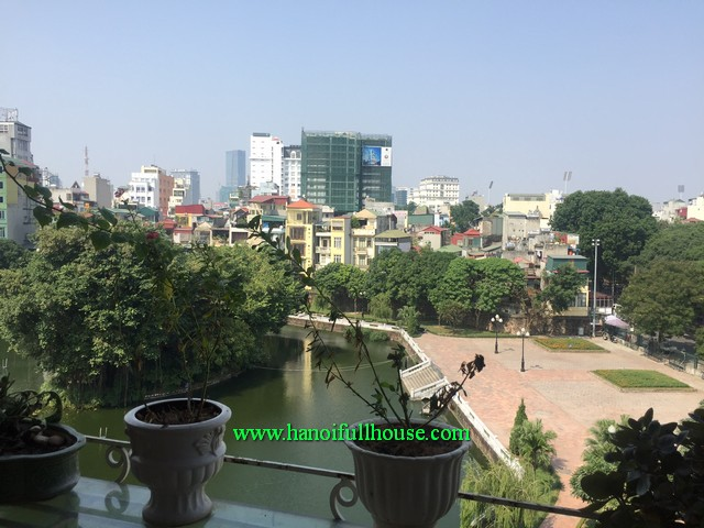A duplex apartment with beautiful balcony and garden, lake view for rent