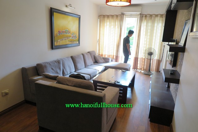 Cau Giay rental house, three bedroom, modernly furnished, balcony and lots of natural light