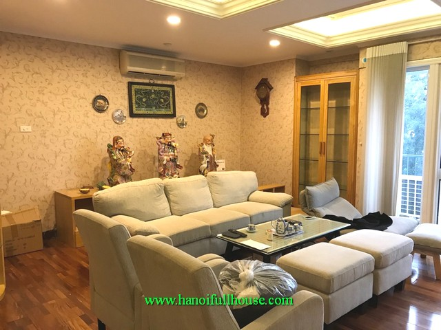 190 sqm, 3 bedroom & two bathroom in modern apartment in central Hanoi, Vietnam
