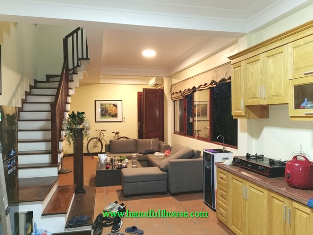 2 BHK fully furnished house in Tay Ho district. 2 storeys house in a quiet area