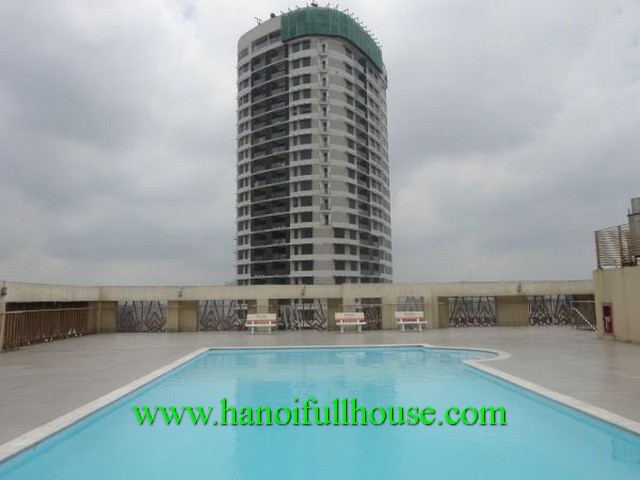 An apartment of high-ranking building for rent. Full furniture, 2 bedrooms