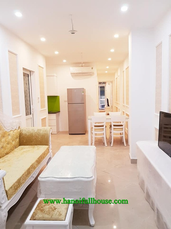 Brand new service apartment with two bedrooms, 1 bathroom in Ton Duc Thang street for rent now