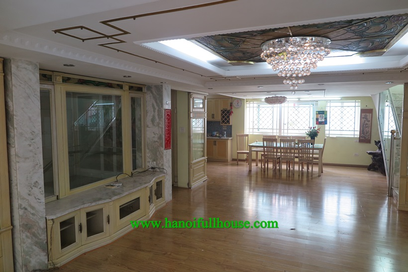 Great Villa with garage , spacious terrace in Tay Ho dist for rent now
