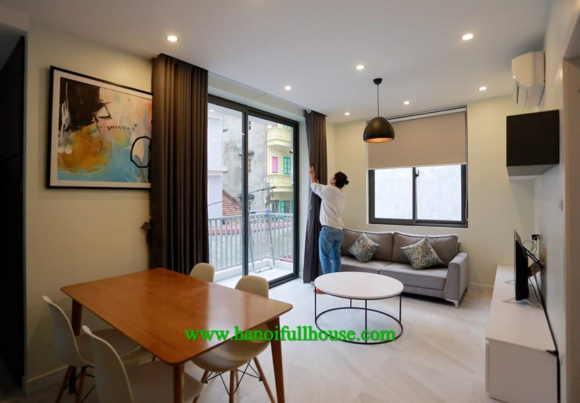 One bedroom apartment with spacious terrace for rent in Ha Noi center