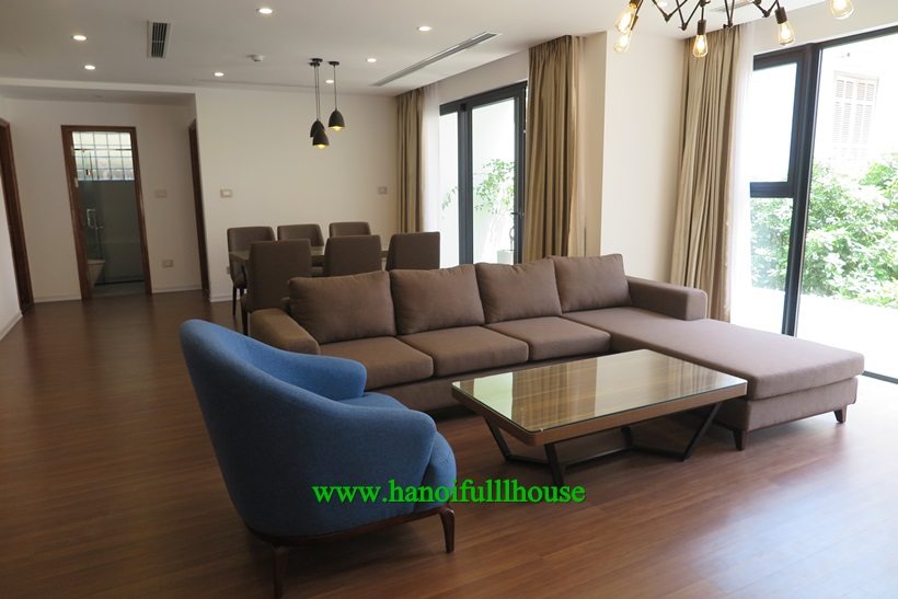 A  new apartment 4 bedrooms,3 bathrooms, 240m2,full furnished and  great view in Tay Ho
