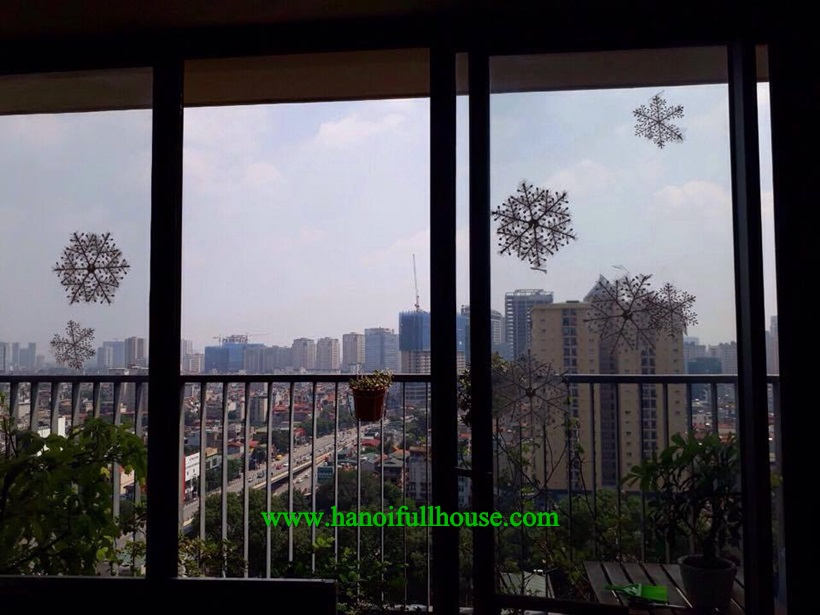 Amazing nice 2 bedroom apartment in Sky City 88 Lang Ha for lease