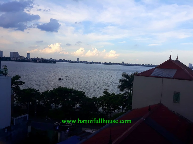 6 bedrooms house with balcony, terrace, lake view in Ha noi for rent  now