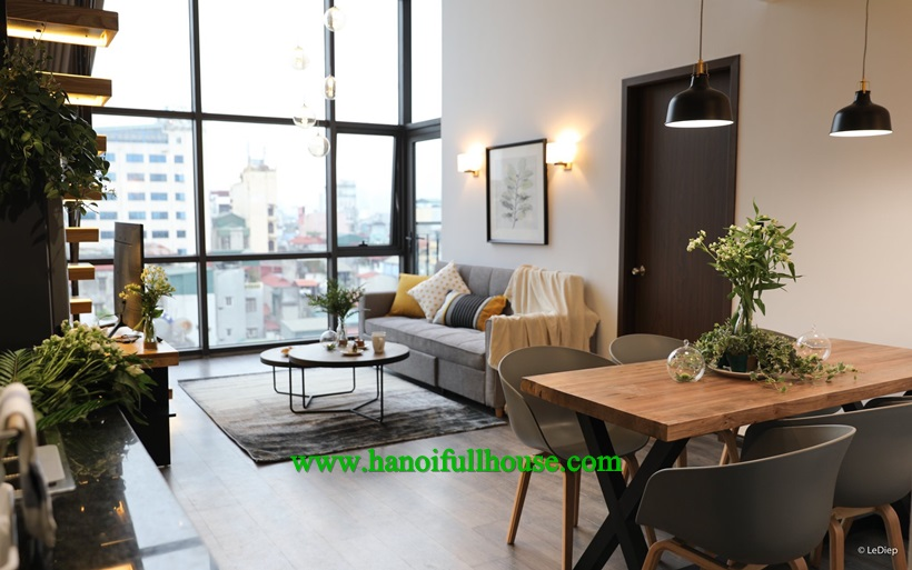 So nice duplex apartment for rent in Dong Da dist