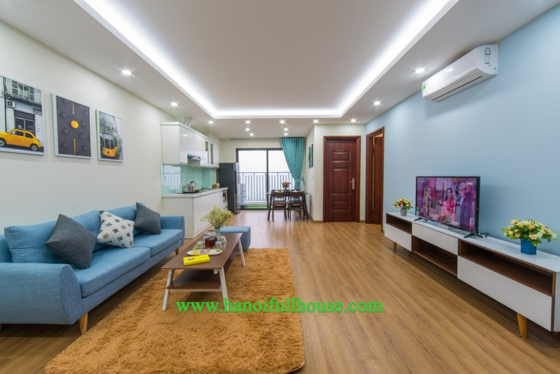 Apartment for rent, 2 bedrooms, high floor, nice furniture in Central Point building - 219 Trung Kinh