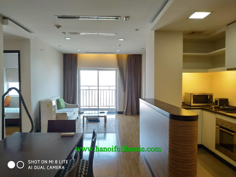 Big balcony apartment with 3 bedrooms for rent in Hoa Binh Green on Buoi road