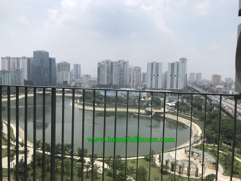 Lake view 2 bedroom apartment for rent in D'Capitale Tran Duy Hung