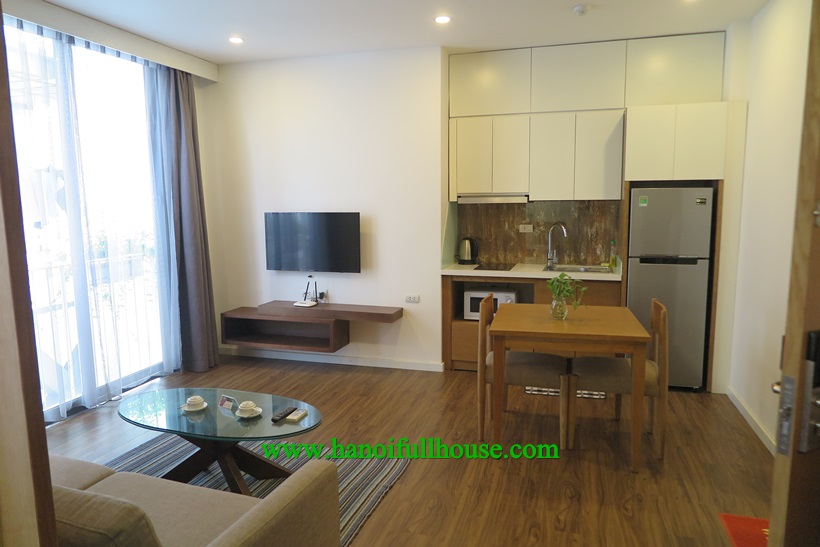 Nice one bedroom apartment with bathtub,a lot of light in Ba Dinh