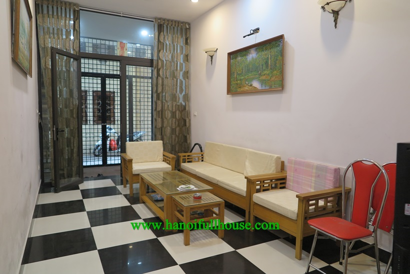 Fully furnished 4 bedroom house in Ba Dinh dist for rent