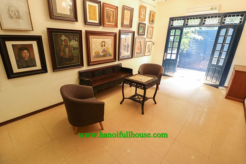 Nice house with yard,full furnished in Ba Dinh for rent