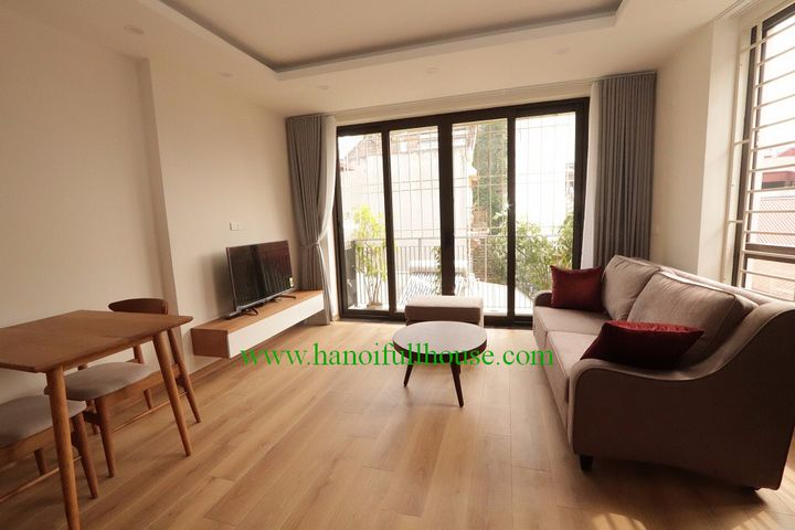 Fully- furnished apartment with 2 bedrooms and 2 bathrooms near Lotte center