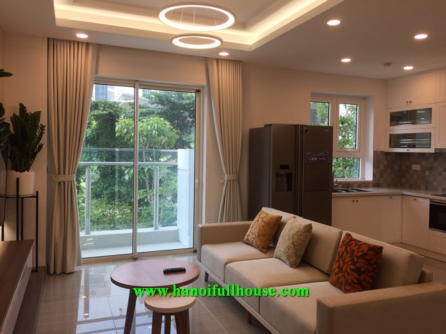 For rent 2- bedroom apartment in Link 4 Ciputra, brand new and nice decoration.