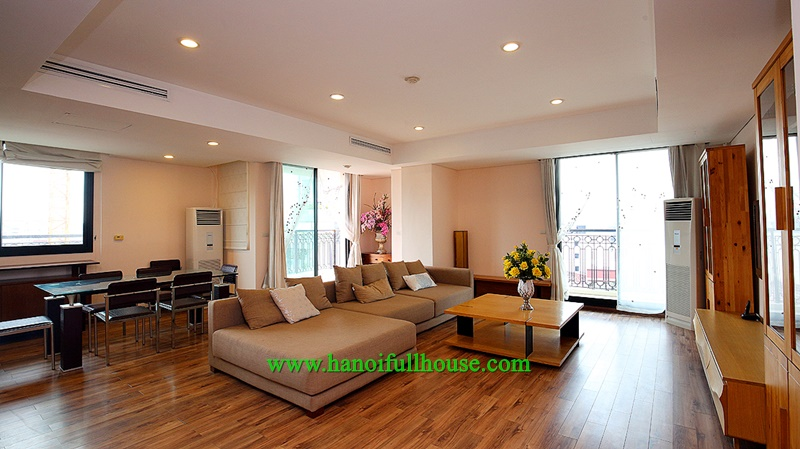 Apartment with 3 bedrooms, 200m2, with beautiful interior in Pacific Building - 83B Ly Thuong Kiet for rent