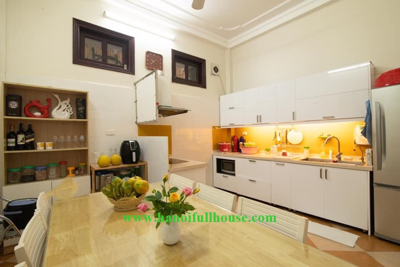 Tayho housing on Dang Thai Mai street, Hanoi with 04 bedrooms, fully furnish