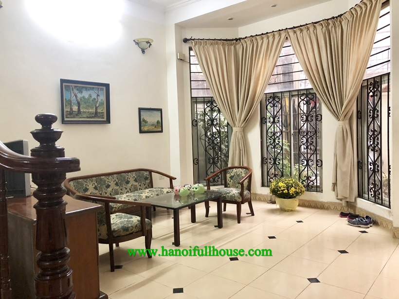 A french style house with 4 bedrooms for rent in Ba Dinh
