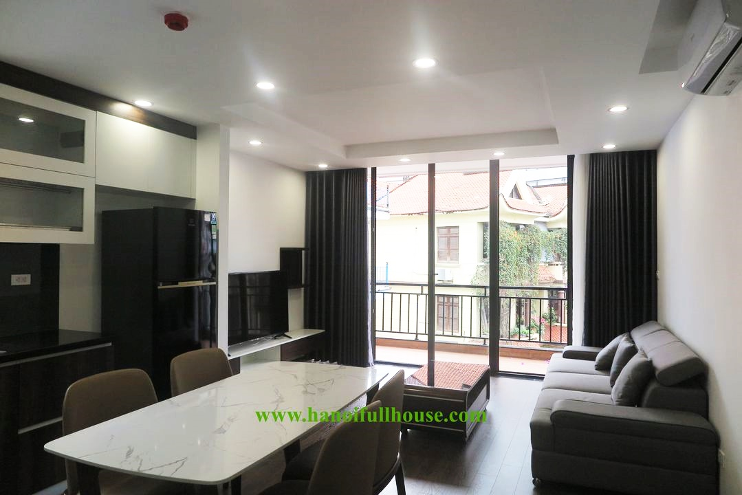 2 bedroom apartment for rent with balcony with lots of light, high-class furniture in Tay Ho