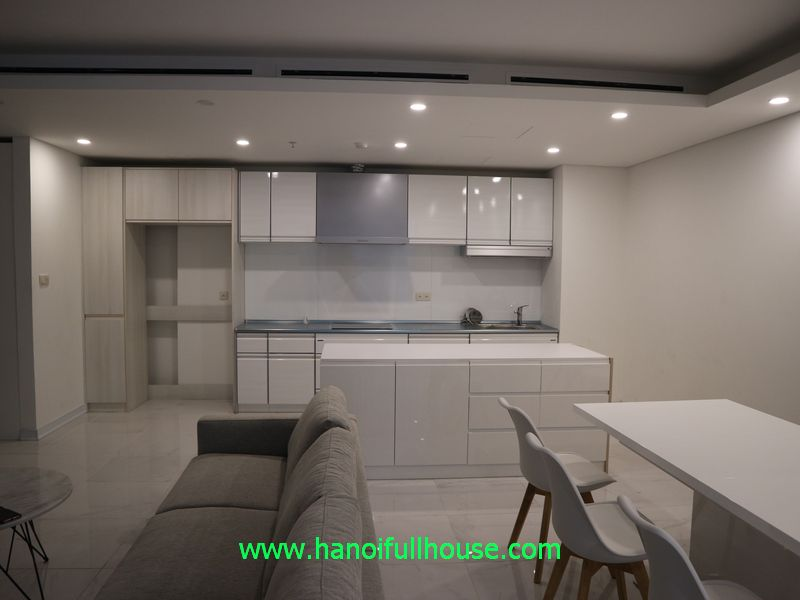 Nice apartment with 03 bedrooms for rent in Aqua Central 44 Yen Phu, Hanoi for rent.