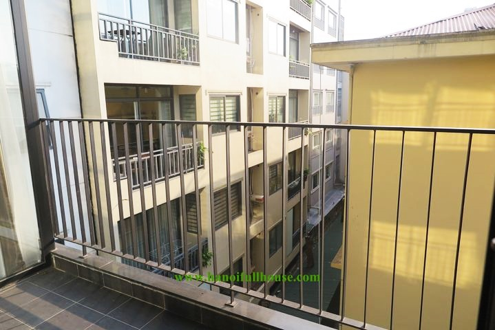 Modern 1-bedroom serviced apartment with large balcony at To Ngoc Van for rent