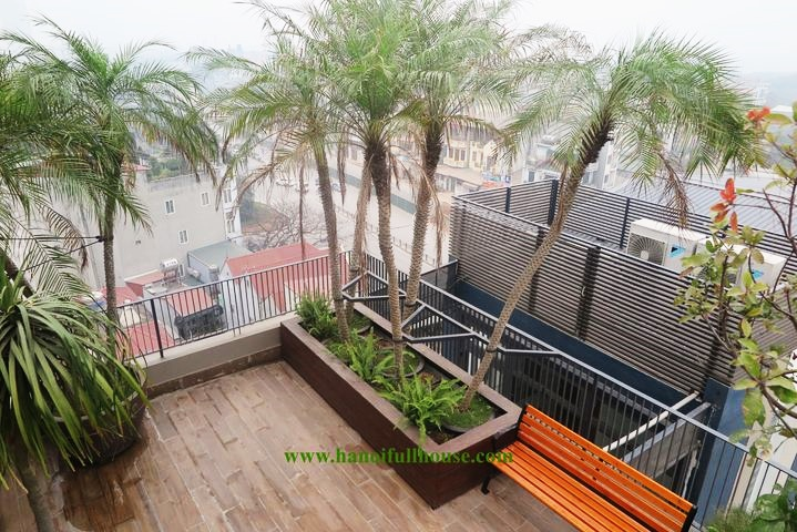 Super beautiful duplex apartment, brand new with full view of Nhat Tan bridge for rent in Tay Ho