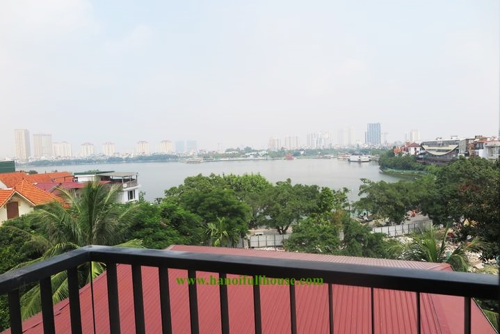 Apartment for rent with 2 bedrooms, large balcony, West Lake view on To Ngoc Van street