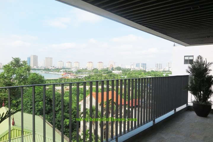 Luxury 3 bedroom apartment with European style, lake view in Tay Ho for rent