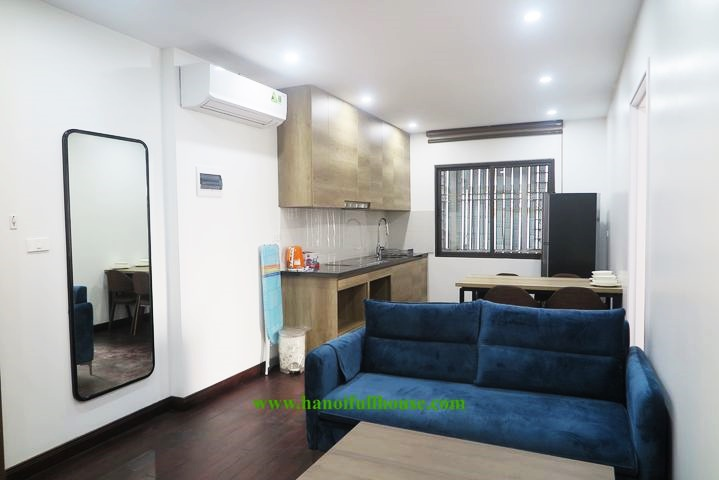 Beautiful, brand new 1-bedroom apartment on high floor with balcony for rent in Tay Ho