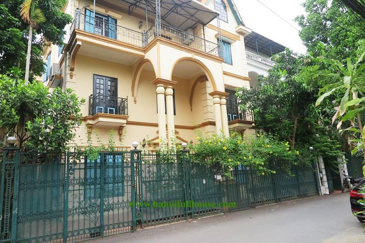 Unique French-style villa for rent in Tay Ho, right next to West Lake