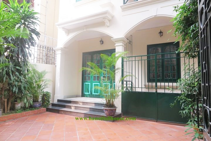 Garden house for rent, spacious, fully furnished in To Ngoc Van - Tay Ho