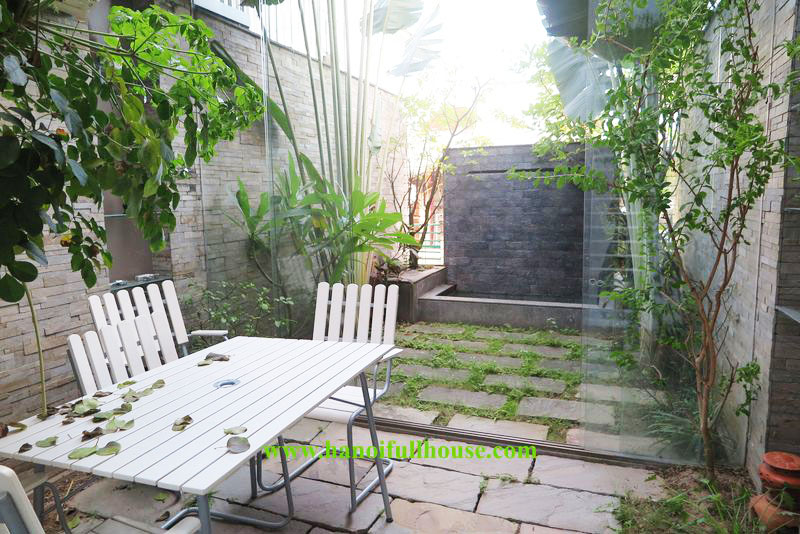 Beautiful house with modern style, green space in Old Quarter for rent