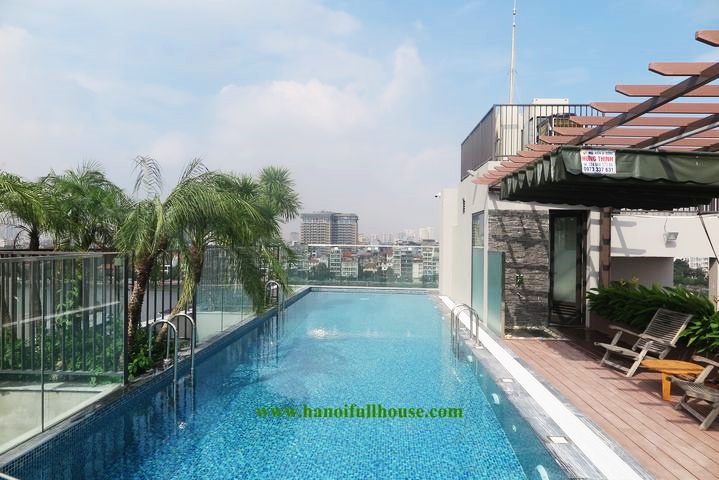 Nice modern 2 bedroom apartment for rent, with super large swimming pool in Tay Ho district