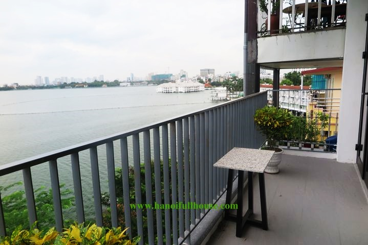 2-bedroom apartment with large balcony with beautiful West Lake view in Yen Phu village for rent