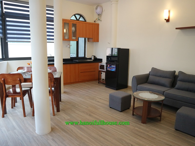 Nice and new serviced apartment for rent with one bedroom, nice view in Truc Bach area