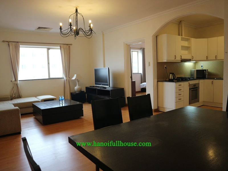 Serviced apartment for rent with 2 bedrooms, large balcony with Japanese style
