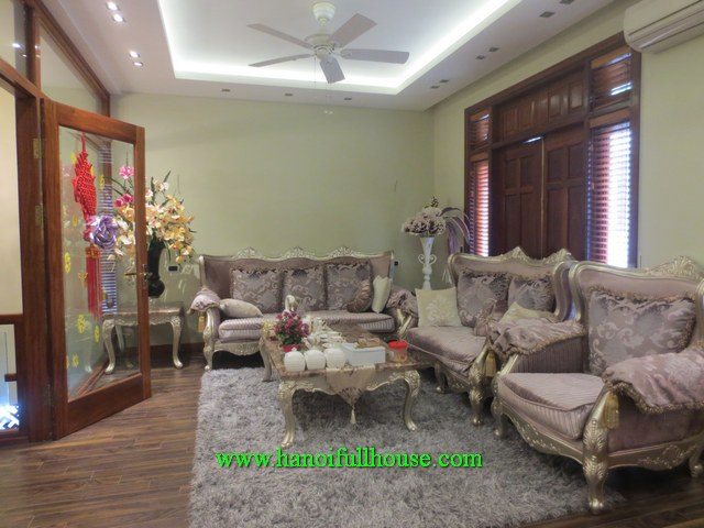 Beautiful and big three-bedroom house in Dao Tan str, Ba Dinh dist for lease