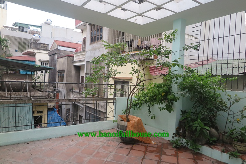 Nice house in Doi Can street, 3 bedrooms, great terrace,  big balcony for rent