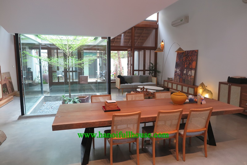 Spacious villa with big garden and Distinctive style, 3 bedroom, near West lake for rent