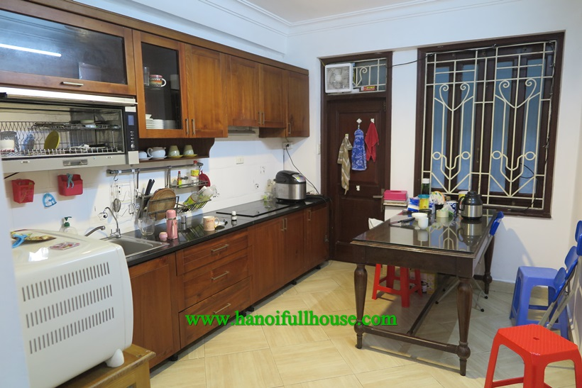 Find house in Ba Dinh center: 4 bedrooms, full furniture near Lotte center
