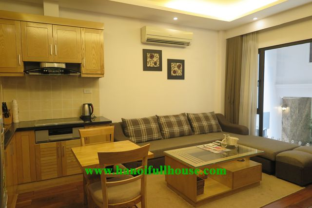 Furnished apartment near Pham Huy Thong Lake for rent