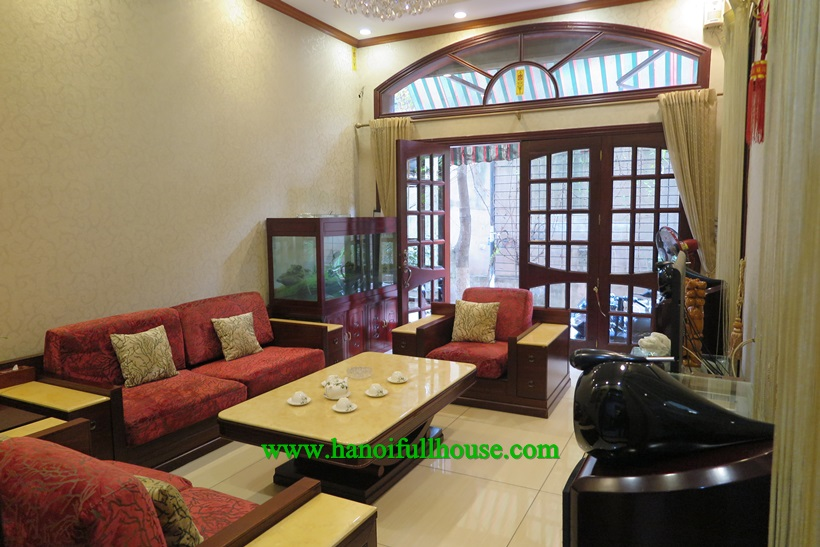 Find 5 bedroom house ,car access,with full furniture in Dong Da Center